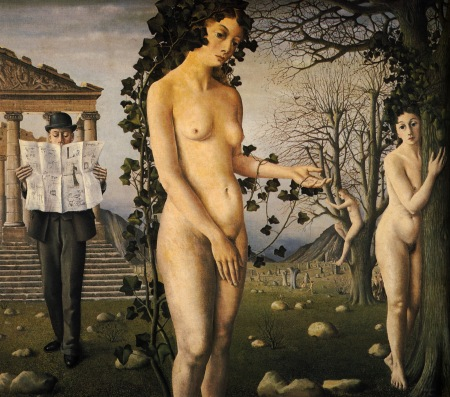 paul delvaux the-man-in-the-street-1940